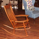 Barb's new Maloof inspired rocker 002