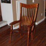 Barb's new Maloof inspired rocker 003