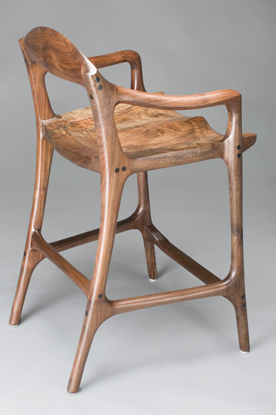 A Barstool For The Contemporary Yet Classic Wood Collector