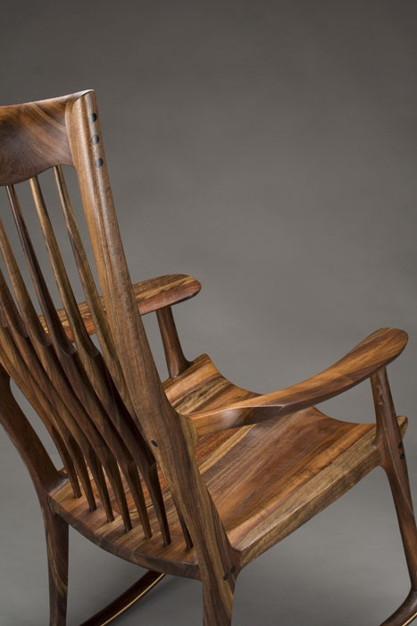 Classic Maloof Style Rocking Chair By Scott Morrison Fine