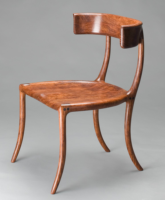 Custom chair klismos handmade walnut by scott morrison