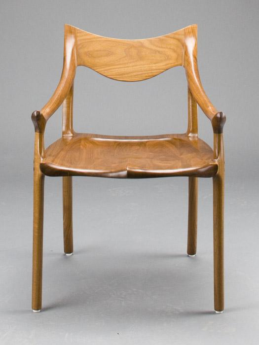 Lowback Tea Chair In Walnut By Scott Morrison