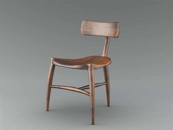 Sculpted Custom Chair By Scott Morrison Fine Woodworker