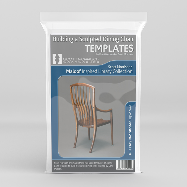 Maloof Inspired Dining Chair Templates By Scott Morrison